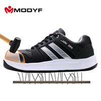Modyf Men Steel Toe Cap Work Safety Shoes Unisex Breathable Outdoor Safety Footwear Biker Boot Foot