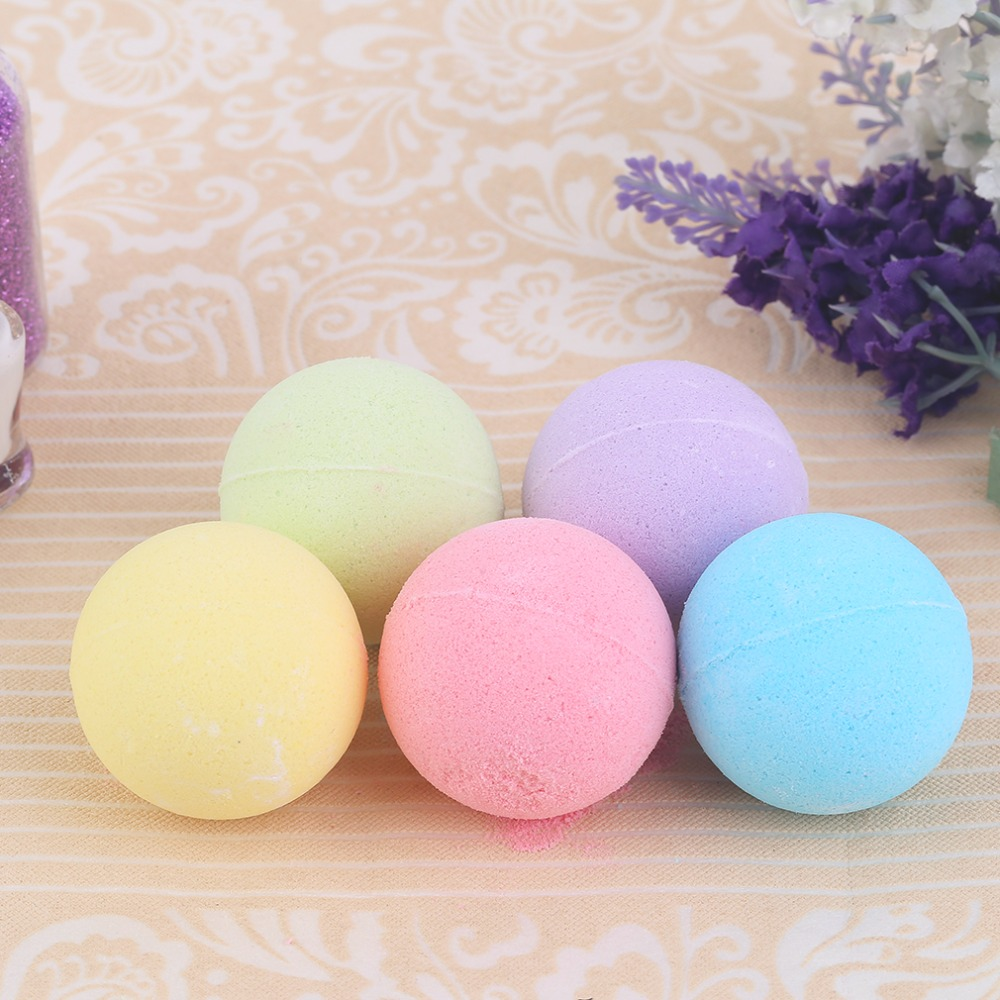 100pcs/lot Small Size Home Hotel Bathroom Bath Ball Bomb Aromatherapy Type Body Cleaner Handmade Bath Salt Gift 40G