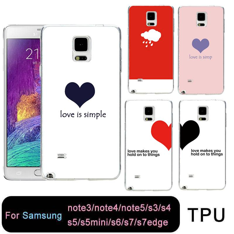 Lower Price with Qmswei Tpu Soft Phone Case For Samsung S8 S6 S7 Edge S4 S5 S3 C5 C9 Note3 Note4 Note5 Clear Couple Heart Umbrella Free Shipping Exquisite Craftsmanship; Phone Bags & Cases