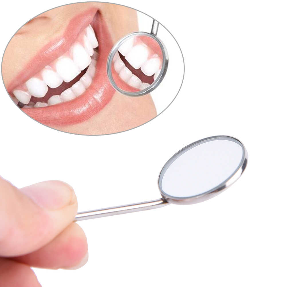 New Dental Mouth Mirror Reflector Dentist Equipment Stainless Steel Dental Mouth Mirror Dia 24mm