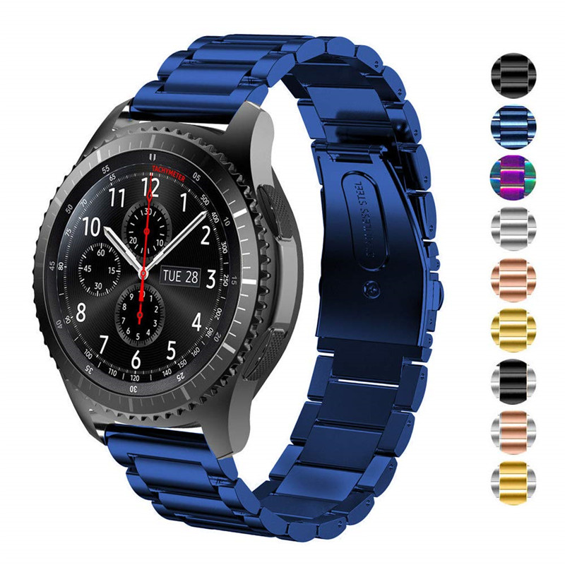 For Samsung Gear S3 Band 22mm Solid Stainless Steel Metal Business Strap for Samsung Gear S3 Frontier/Classic/Galaxy Watch 46mmFor Samsung Gear S3 Band 22mm Solid Stainless Steel Metal Business Strap for Samsung Gear S3 Frontier/Classic/Galaxy Watch 46mm