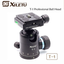 Xiletu T-1 Aluminum Tripod Monopod Ball Head with Quick Release Plate 1/4 Screw For Canon Nikon Sony Fujifilm DSLR