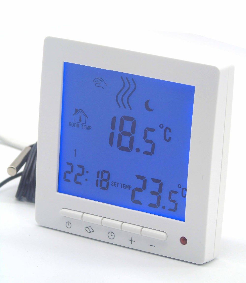 Dual Sensor Programmable EU thermostat valve for heating systems
