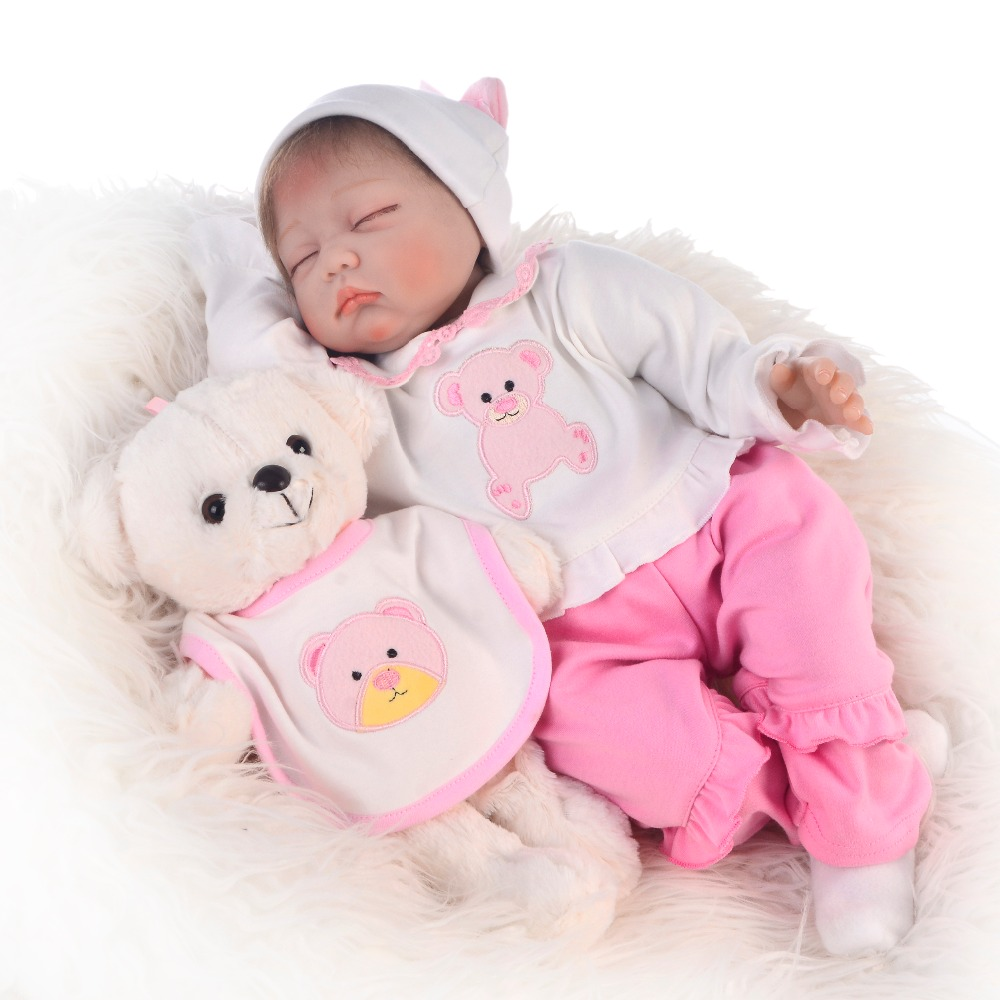 Bebe toys Reborn baby silicone doll for sale 22inch cotton body newborn baby alive doll for children gift