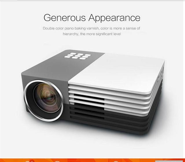 Newest Mini Portable Projector 1080P HD LED MINI Projector Perfect Home Theater Projector Free Shipping GM50