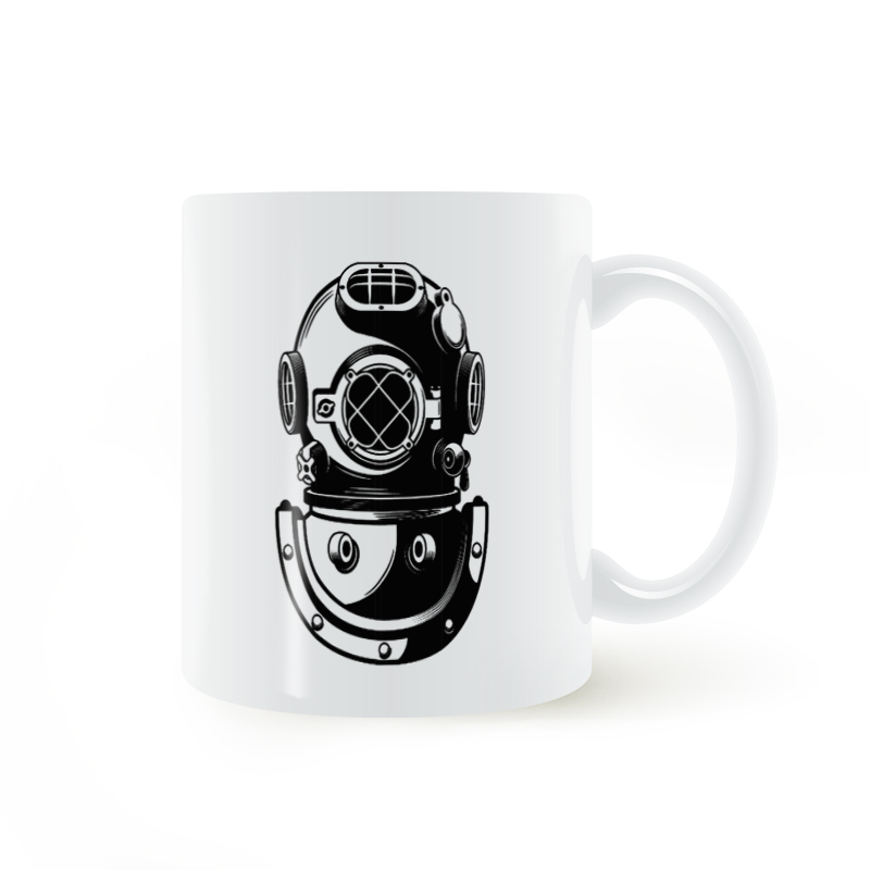 Nautical Mask Air Regulator Deep Dive Diver Underwater Mug Coffee Milk Ceramic Cup Creat ...