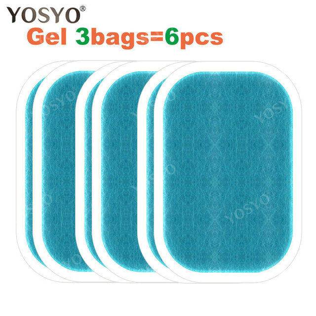 1/3/5/10Pair Replacement Gel Pads For EMS Abdominal Muscle Trainer Pad Weight Loss Abdominal Muscle Stimulator  Gel Pad 1