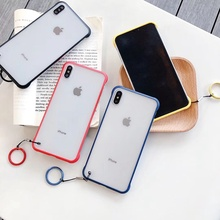 For Oneplus 7 Pro Luxury Ring Ultra Thin Frosted Touch Case Soft Silicone Coque Fundas Capa One Plus 1+7