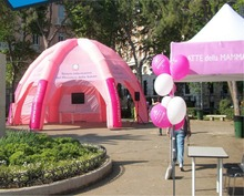 8m Diameter Logo Making Outdoor Inflatable Dome Tent For Trade Show, Promotion
