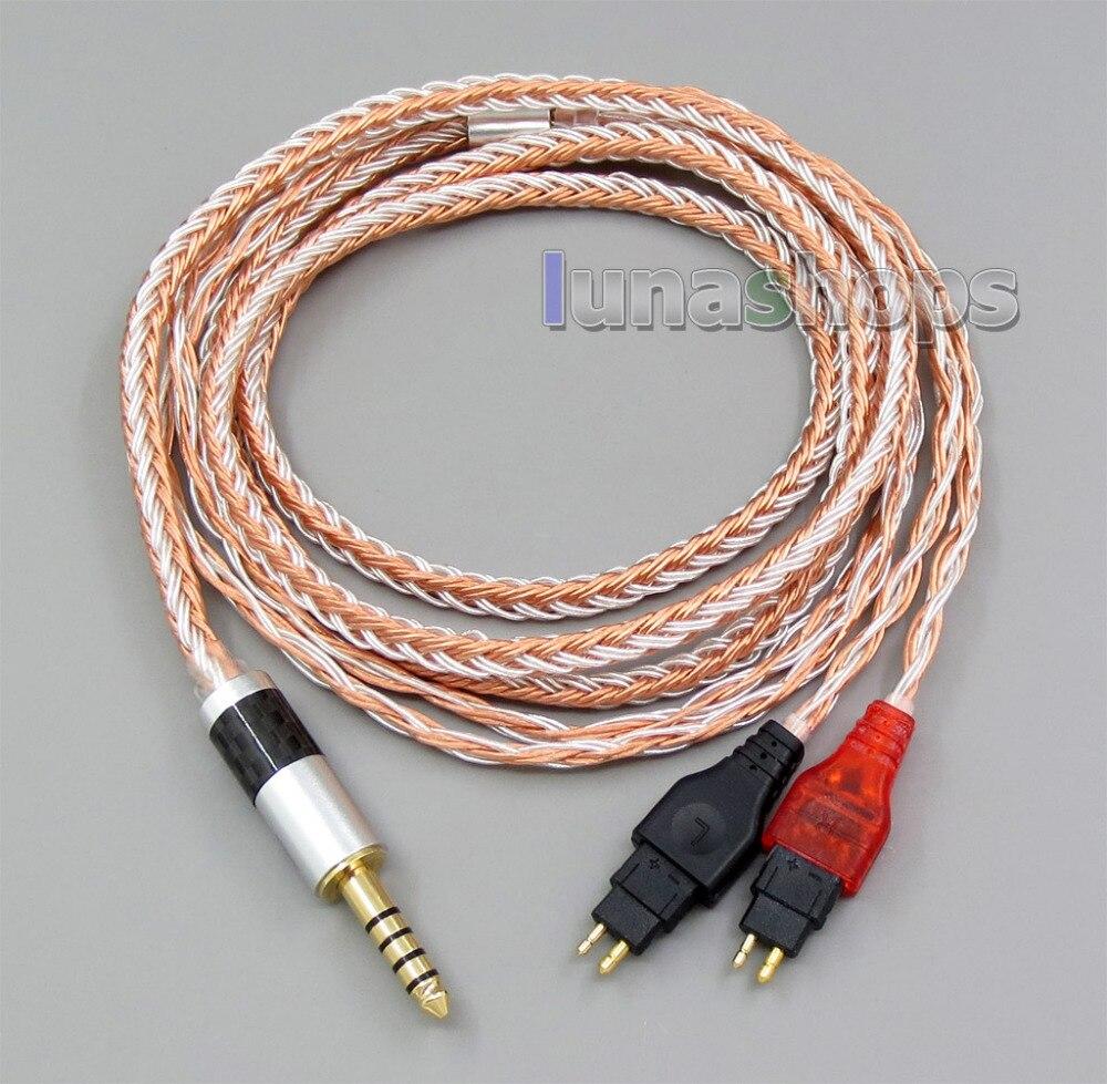 4 4mm Balanced 16 Cores OCC Silver Mixed Headphone Cable For Sennheiser HD25 1 SP HD650