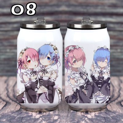 Hot Anime Re:life In A Different World From Zero Cup Around Vacuum Cup Stainless Steel Zip-top Can Water Bottle Insulated Cup Costume Props Costumes & Accessories