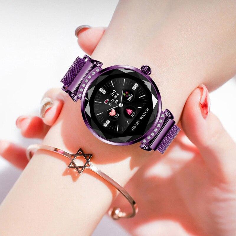 Smartwatch Menstruatie Hartslagmeter Vrouwen Slimme Horloges Intelligent Sport Armband Stappenteller Calorie Vrouw Smart Horloge-in Dameshorloges van Horloges op  Groep 1