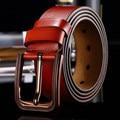 20151018 hombres jeans de moda pin hebilla Cinturones De Cuero genuino superior