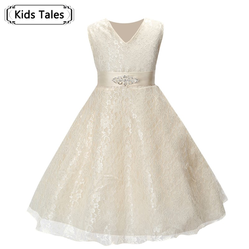 Summer   Dress   for Children Lace   Flower     Girls     Dress   Party Wedding   Dress   Elegent Princess Vestidos SQ253