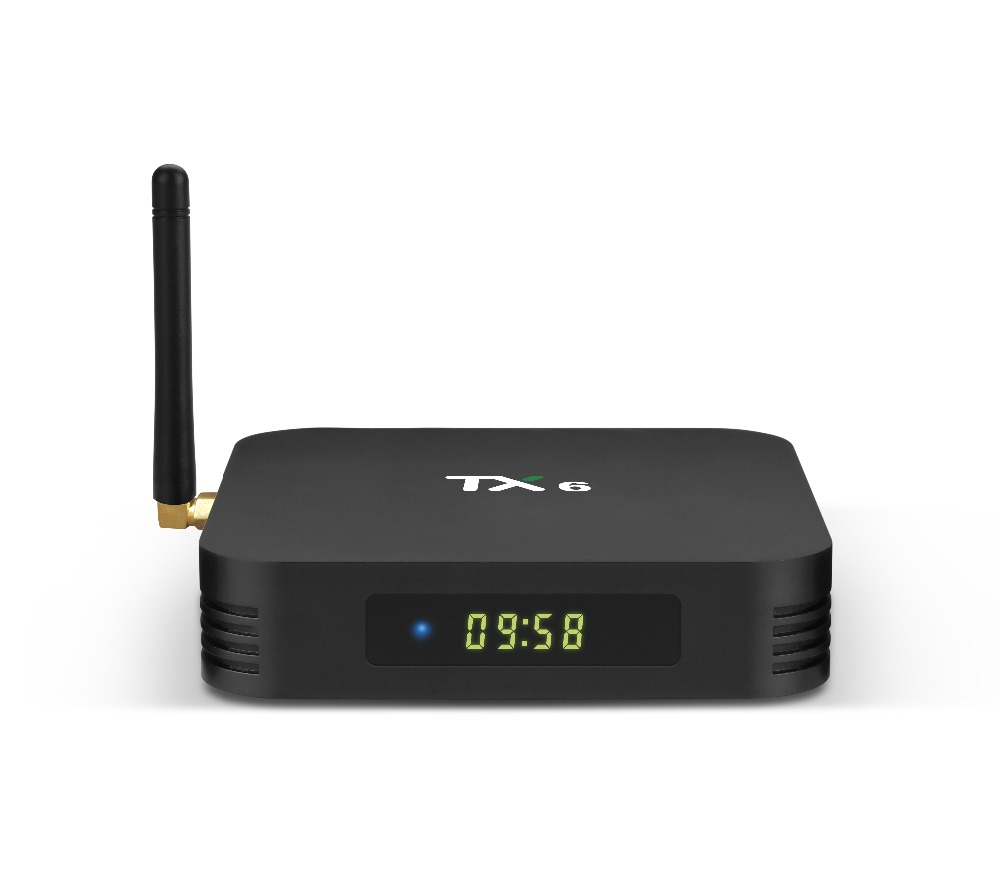 Wechip TX6 TV Boîte 4g 32g Puce Allwinner H6 Android 7.0 TV Box H.265 4 k x 2 k 2.4g + 5g WiFi Mini PC Set-top Box BT lecteur Multimédia