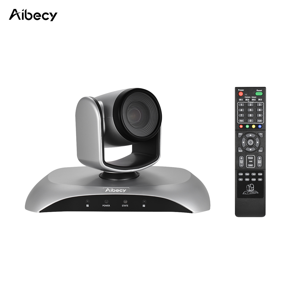 Aibecy 1080P HD USB Video Conference Camera 10X Optical Zoom Auto Focus Auto Scan Plug-N-Play with Infrared Remote Control ikecix u12x 2m 12x zoom usb 1080p video conference camera microphone