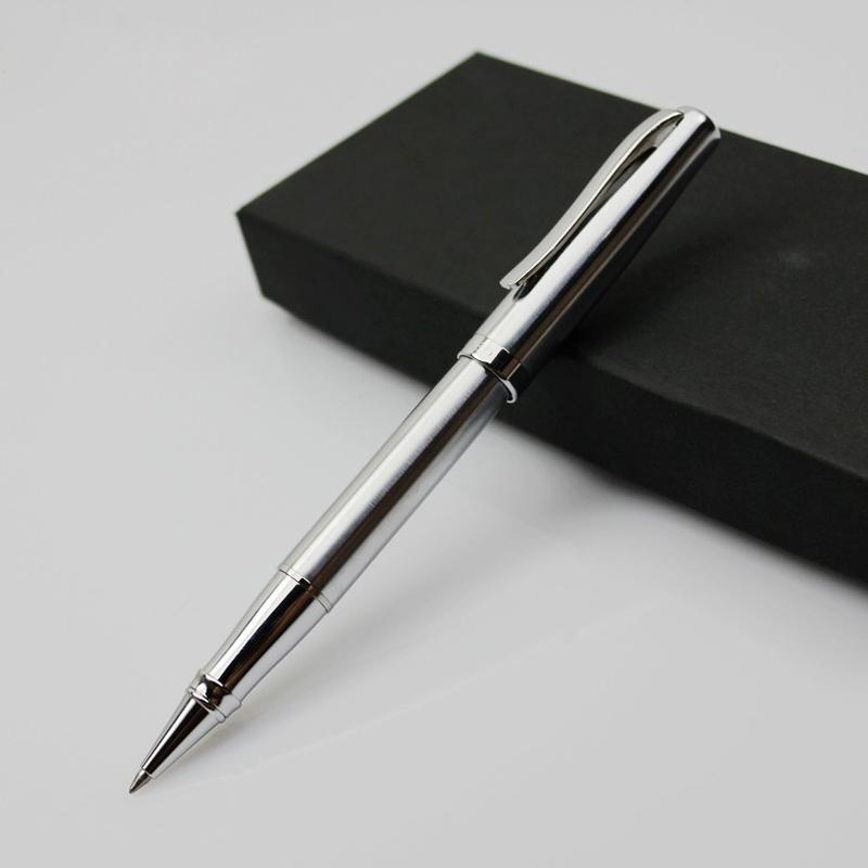 1Pcs HIGH QUALITY DUKE 0.5mm Metal ball pen luxury sign pens Roller gel pen Stationery Office school supplies Business pen 03642 art palace picasso brand black metal roller ball pen stationery school office supplies luxury writing birthday gift ball pens