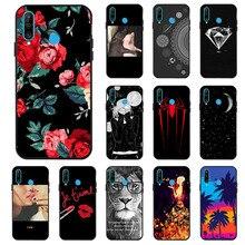 Ojeleye Fashion Black Silicon Case For Huawei P30 Lite Cases Anti-knock Phone Cover Nova 4E Covers Back Housing Coque