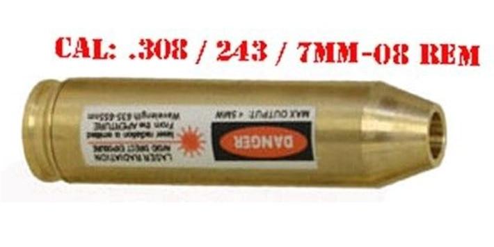 Diameter 7-8mm CAL .243/.308 Laser Cartridge Bore Sight Red Dot Laser Bore Sight For Airgun Pistol Rifle Hunting