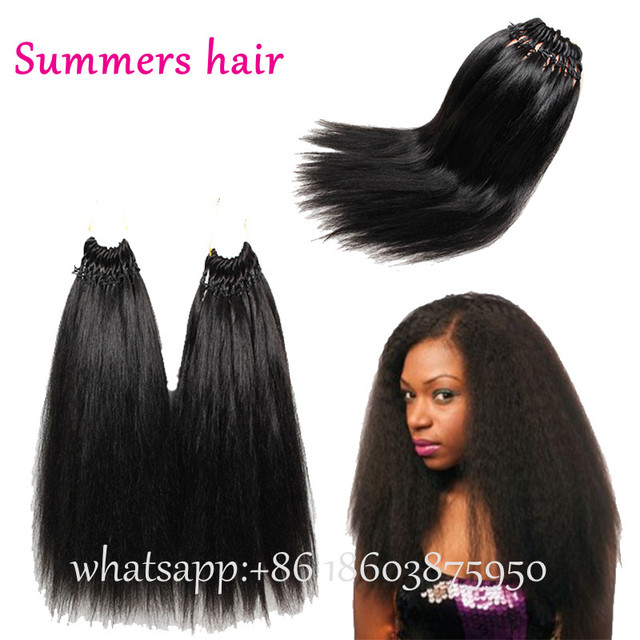 Cheap Kinky Straight Hair Mink Brazilian Hair Weave Bundles 18 Yaki