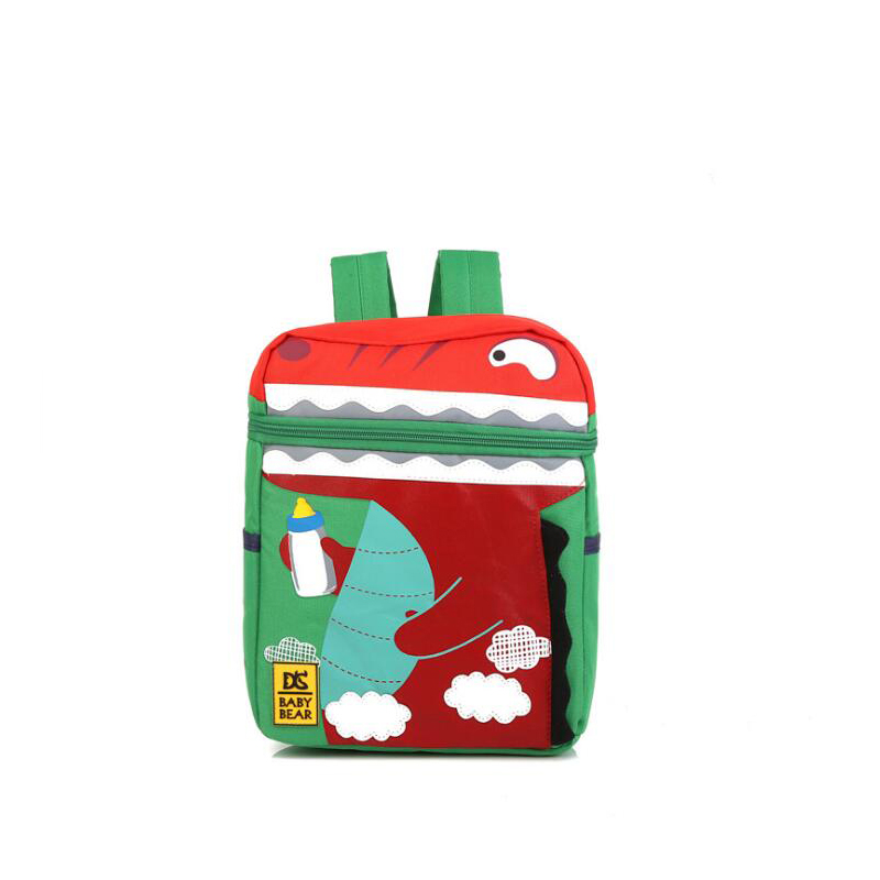 2017 Small Cartoon Dinosaur Crocodile Children School Backpack For