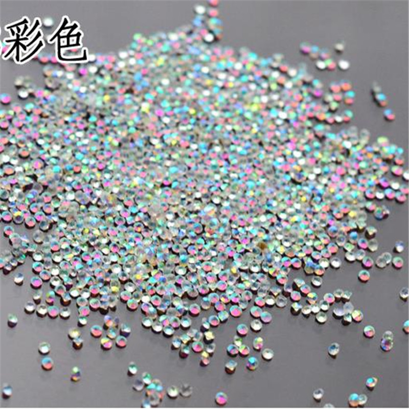 1000PCS/Pack 1.3mm Tiny pixie Crystal Clear AB Non Hotfix Rhinestones Nail Rhinestones For Nails 3D Nail Art Decoration Gems super shiny 5000p ss16 4mm crystal clear ab non hotfix rhinestones for 3d nail art decoration flatback rhinestones diy