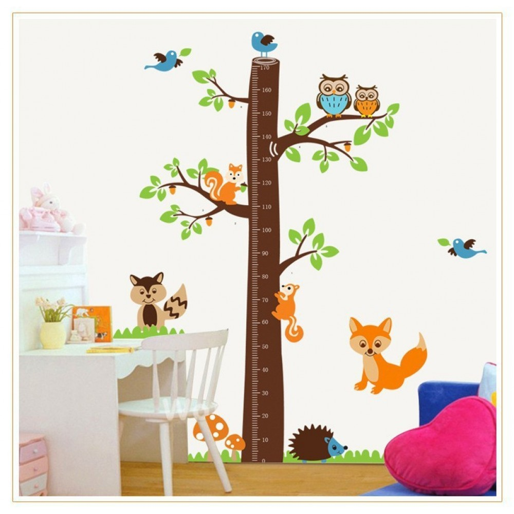 Tree growth chart wall decal growth chart wall stickers tree owls tree growth chart wall decal growth chart wall stickers tree owls mushrooms hedgehog lovely colorful stickers g3ay221 in wall stickers from home garden on nvjuhfo Image collections