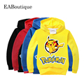 POKEMON Sweatshirts hoodies girls boys clothing More color kids clothes cartoon tops casual style 1 pcs