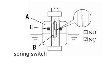 flutuação mini tipo poli propy sensor líquido nível água normal fechar nc