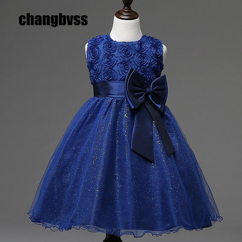 low priced b4149 48ad4 US $14.0 50% OFF|Günstige Schöne Blume Mädchen Kleid Tutu Stil Prinzessin  Kinder Kleider Kleidung 8 Farben Kinder Party Kleid für 1 8 jahre Alt ...