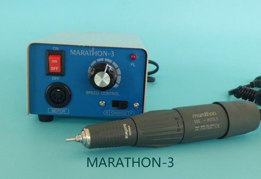 1 unité de laboratoire dentaire MARATHON-3 micromoteur polonais Machine à moteur électrique avec H35SP1/M33ES/H37L1