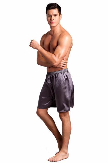 Summer New Men's Satin Pajamas Pyjamas Pants Male Casual Lounge Short Pants Loose Soft Sleep Bottoms Size M L XL 2XL 0720