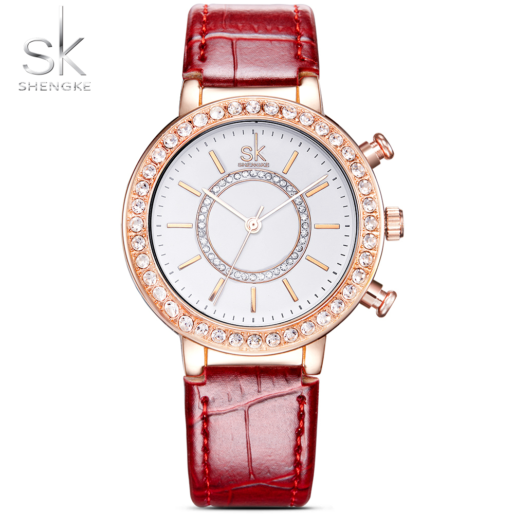 Sk Dámské hodinky 2018 Luxusní dámské hodinky s koženým páskem ... 7d09ec43c2