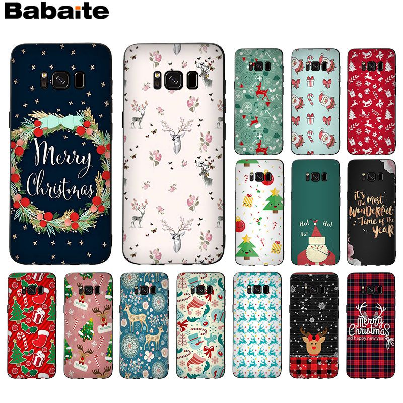 Babaite Christmas New Year Gifts Popular Custom TPU <font><b>Phone</b></font> Cover For GALAXY <font><b>s7</b></font> edge s8 plus s9 plus s5 s6 edge image