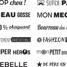Французский общих слов прозрачный силиконовый штамп/печать для DIY Скрапбукинг/фотоальбом Декоративные Ясно Stamp F1032