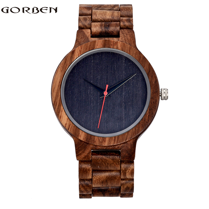New Fashion Simple Wood Watch for Women Simple Design Natural Bamboo Wooden Casual Quartz Wrist Watch Men Ladies clock yisuya simple ladies dress bamboo wooden wrist watch women casual relax handmade nature wood quartz watch genuine leather clock