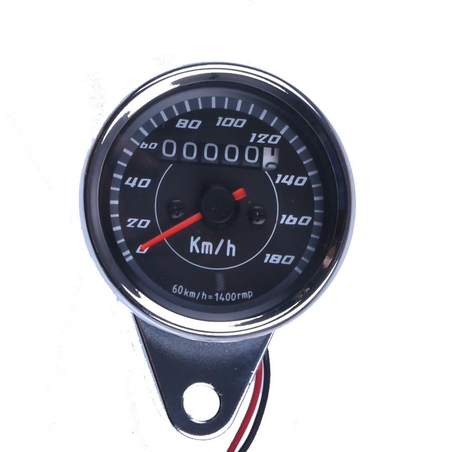 New Universal Motorcycle Speedometer Meter Double Color