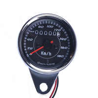 New Universal Motorcycle Speedometer Meter Double Color LED Light Odometer speed meter gauge Miles For Motorcycle hot selling~