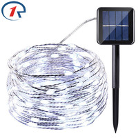 ZjRight 20 m 200 LED Copper Wires Solar String Fairy Lights Premium Quality Solar Panel Lampara For Christmas Garden Decoration