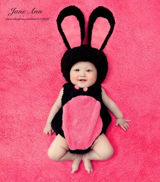 9f400b07b Jane Ann Z Bebê coelho coelho de pelúcia traje fotografia criança adereços  fantasias de animais crianças chapéu + romper páscoa caçoa o presente  outfits em ...