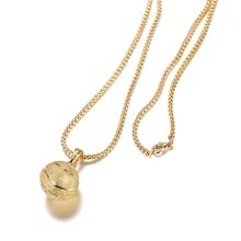 2018 new Basketball Pendant Necklace Gold Stainless Steel Chain Necklace Women Men Sport Hip Hop Jewelry Basketball Lovers Gift(China)