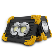 4 Modes DC5V USB Rechargeable Spotlight Portable High Bright Emergency 18650 Led Work Light Square Projector Security Tent Lamp