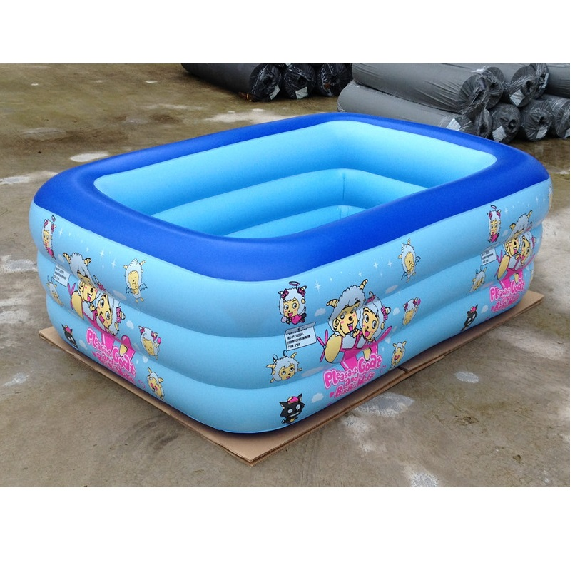 Hot Sale Plastic Square Cartoon Design Inflatable Swimming Pool For Child In Swimming Pool From