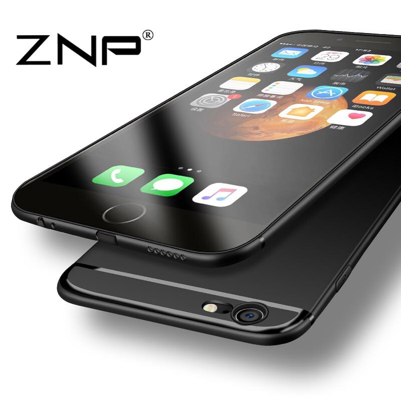ZNP ультра тонкий телефон Чехлы для iPhone 7 7 плюс мягкая TPU Пластиковая крышка для iPhone 6 Чехол 6 S плюс SE 5 5S Чехлы Капа Coque