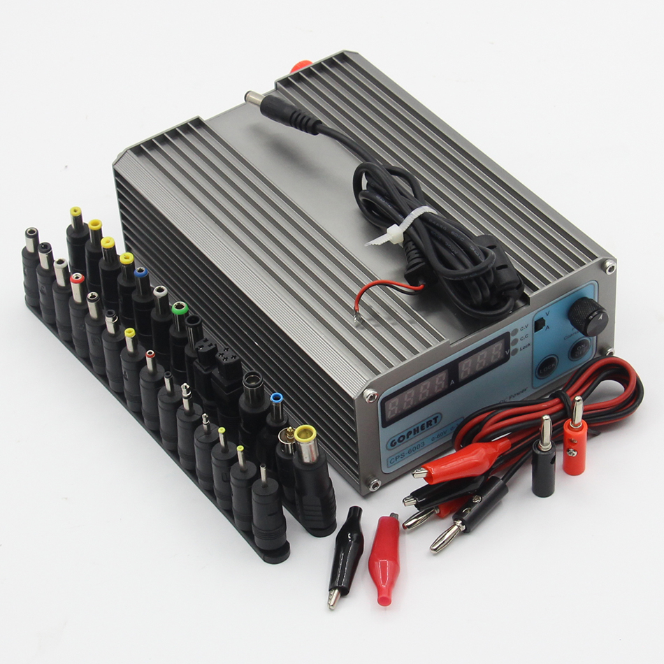 Mini CPS6003 Precision DC Power Supply OVP/OCP/OTP Low Power 60V3A EU 110V-220V 0.01V/0.01A  DC conversion head 1 pc cps 3220 precision compact digital adjustable dc power supply ovp ocp otp low power 32v20a 220v 0 01v 0 01a