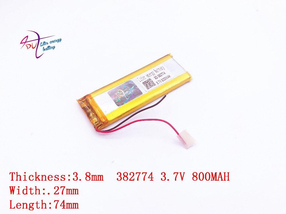 Stromquelle Liter Energie Batterie 3,7 V Lithium-shinco Shinco X6 382774 800 Mah Mp3 Recorder Kamera Stift Rohstoffe Sind Ohne EinschräNkung VerfüGbar