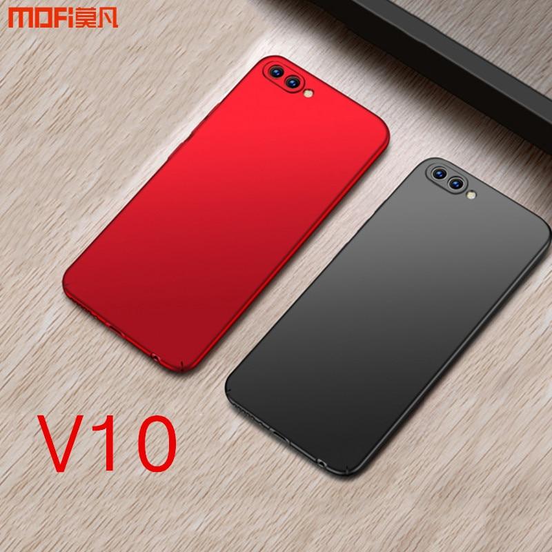 Honor V10 caso para Huawei honor V10 funda MOFI funda trasera dura para Huawei honor ver 10 caso PC SOILD color rojo azul 5.99