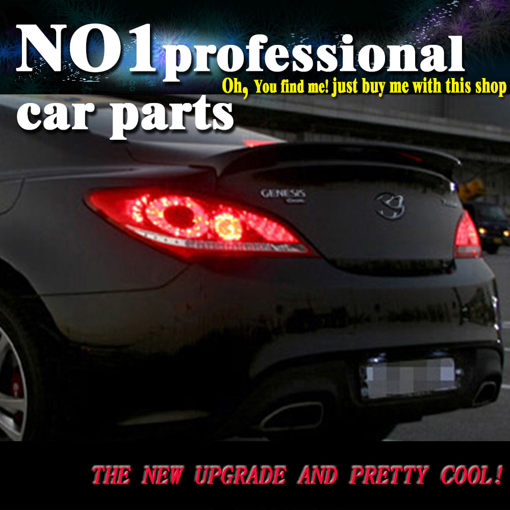 Car styling for hyundai genesis rohens coupe 2009 2012 taillights led tail lights rear lamp