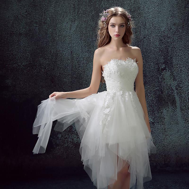 Sexy Lace Princess Bride Short Plus Size Wedding Dresses Under 100