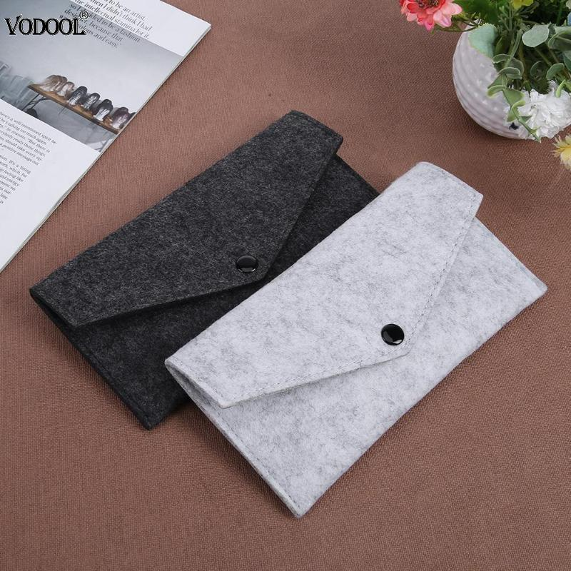 Minimalist Wool Felt Pen Case Pencil Pouch Bags Multifunctional Pen Stationery Pouch Purse Storage Bag Office School Supplies